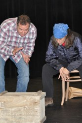 Paul Menezes and Carmela Castro in rehearsal for Almost, Maine